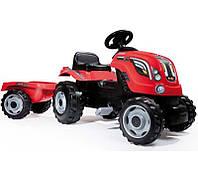 Детский трактор на педалях с прицепом красный Smoby XL 710108