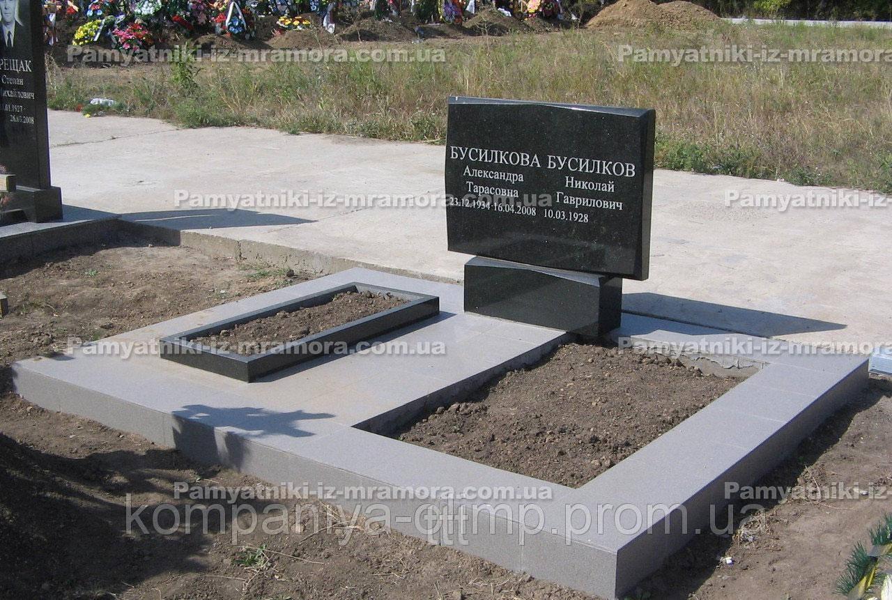 Двойное надгробие из гранита № 4