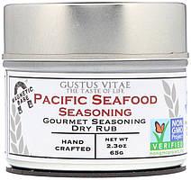 Деликатесная смесь сухих специй Gustus Vitae, приправа для тихоокеанских морепродуктов, 65 г