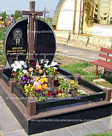 Двойное надгробие с крестом № 8