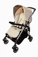 Коляска прогулочная BabyLuxe Carita beige (бежевый). Вес 10 кг (90x55x99 см)