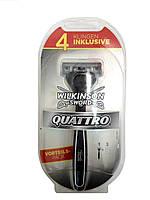 Станок Wilkinson Quattro 1+3 шт., фото 1