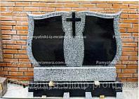 Памятник из серого гранита № 15