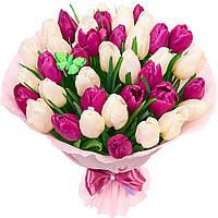 Тюльпаны букет из свежих цветов композиция, фото 1