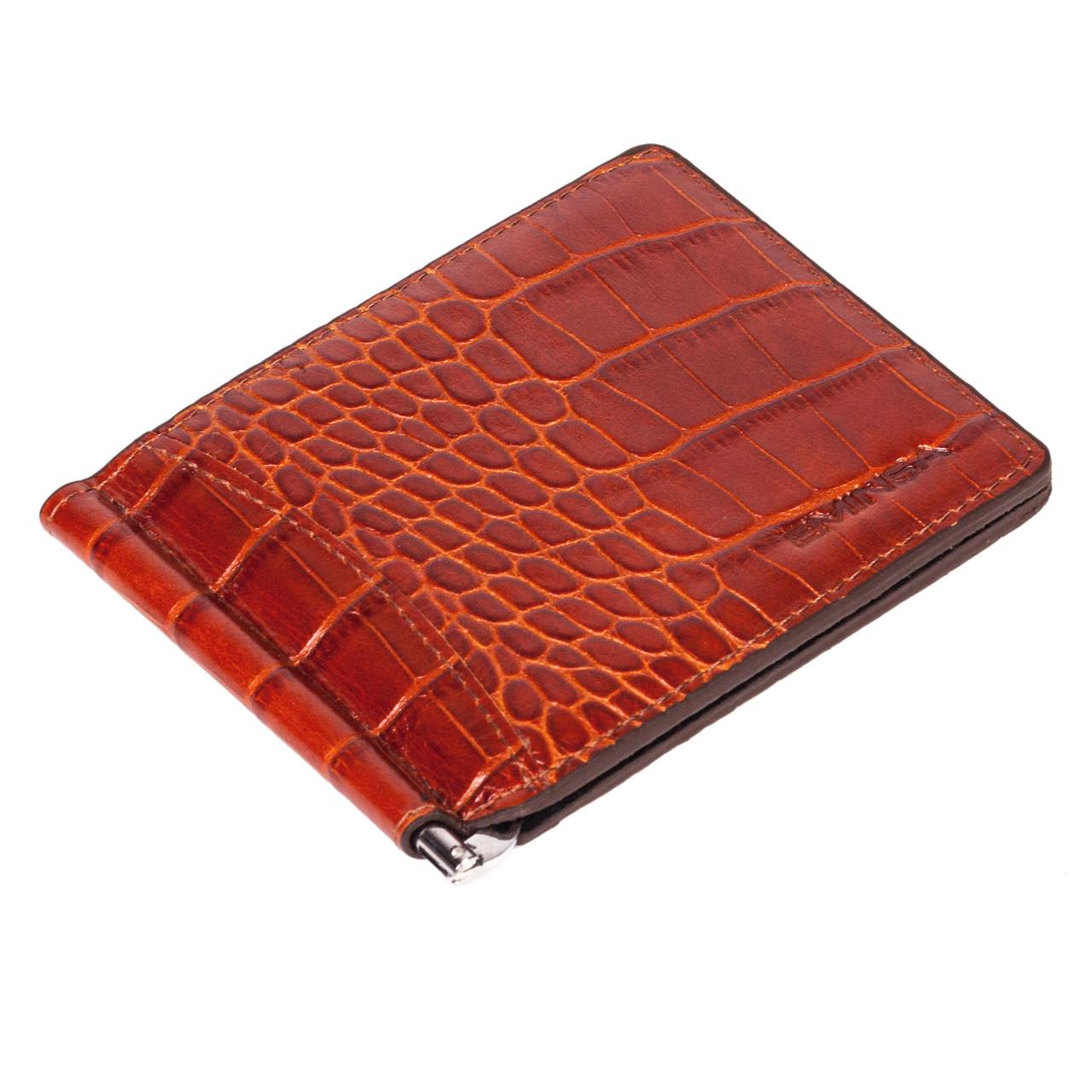 Зажим для денег Eminsa 1075-4-2 кожаный коричневый