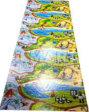 """Игровой коврик для ползания ребенка """"Мадагаскар"""" XXXL 3000x1200x8мм"""