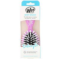 Wet Brush, Детская щетка, облегчающая расчёсывание волос, жираф, 1 щетка