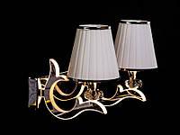 Бра классическое с подсветкой рожков золото/хром 8329-2