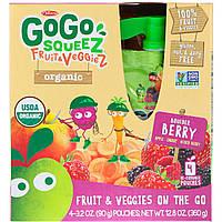 GoGo SqueeZ, Organic Fruit and VeggieZ, Boulder Berry, 4 Pouches, 3.2 oz (90 g) Each