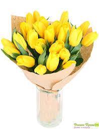 Букет из тюльпанов свежий срез