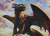 Картина GeekLand How to train your dragon Как приручить дракона Беззубик 60х40см HD.09.036