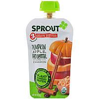 Sprout Organic, Детское питание, этап 3, тыква, яблока, красная чечевица с корицей, 113 г