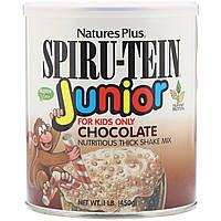 Молочный белковый коктейль для детей Nature's Plus, Spiru-Tein Junior, со вкусом шоколада, 450 г