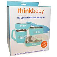 Think, Thinkbaby, Набор детской посуды не содержащий бисфенол А, голубой, 1 набор