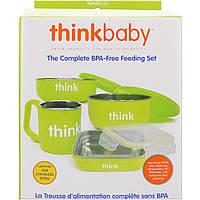 Think, Thinkbaby, Набор детской посуды не содержащий бисфенол А, салатовый, 1 набор