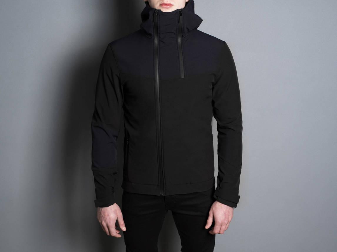 """Стильная весенняя мужская куртка  """"Pyatnitsa""""  ( черный нави ), фото 2"""