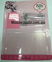 Набор для стемпинга 2 пластины и штамп Nails Cute Easy