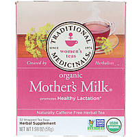 Traditional Medicinals, Organic Mother's Milk, Naturally Caffeine Free, 32 Wrapped Tea Bags, 1.98 oz (56 g)