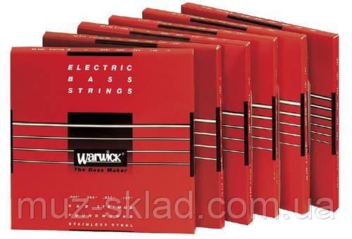 Струны для бас-гитары WARWICK 42300 RED LABEL ML5B (40-130)