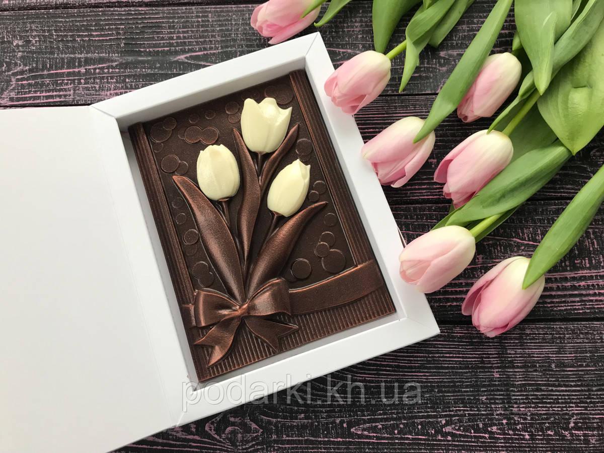 Шоколадные подарки на 8 Марта с наилучшими пожеланиями