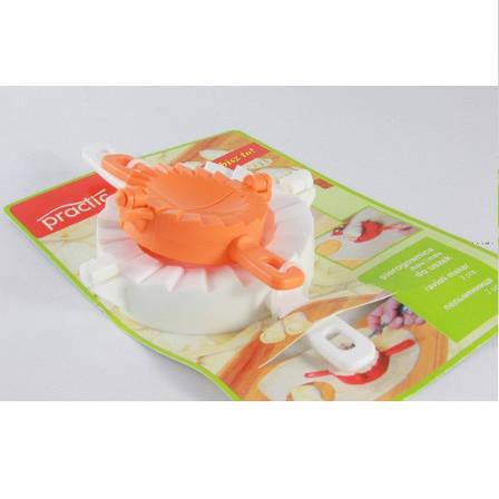 Форма для лепки вареников, набор 2 шт., пластик, бежевый/оранжевый, фото 2