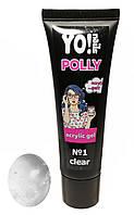 Полигель, акриловый гель Yo!Nails POLLY, цвет Clear, прозрачный, 30 гр