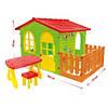 Детский домик с террасой и столиком Mochtoys. Красная крыша 07, фото 2