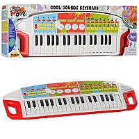 Детский музыкальный центр - синтезатор на 37 клавиш, запись,на батарейках, WinFun 2509-NL