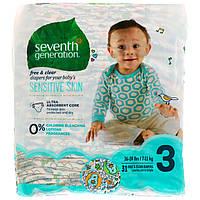 Seventh Generation, Для малышей, Чистые и сухие подгузники, Размер 3, 16-24 фунта (7-11 кг), 31 подгузник