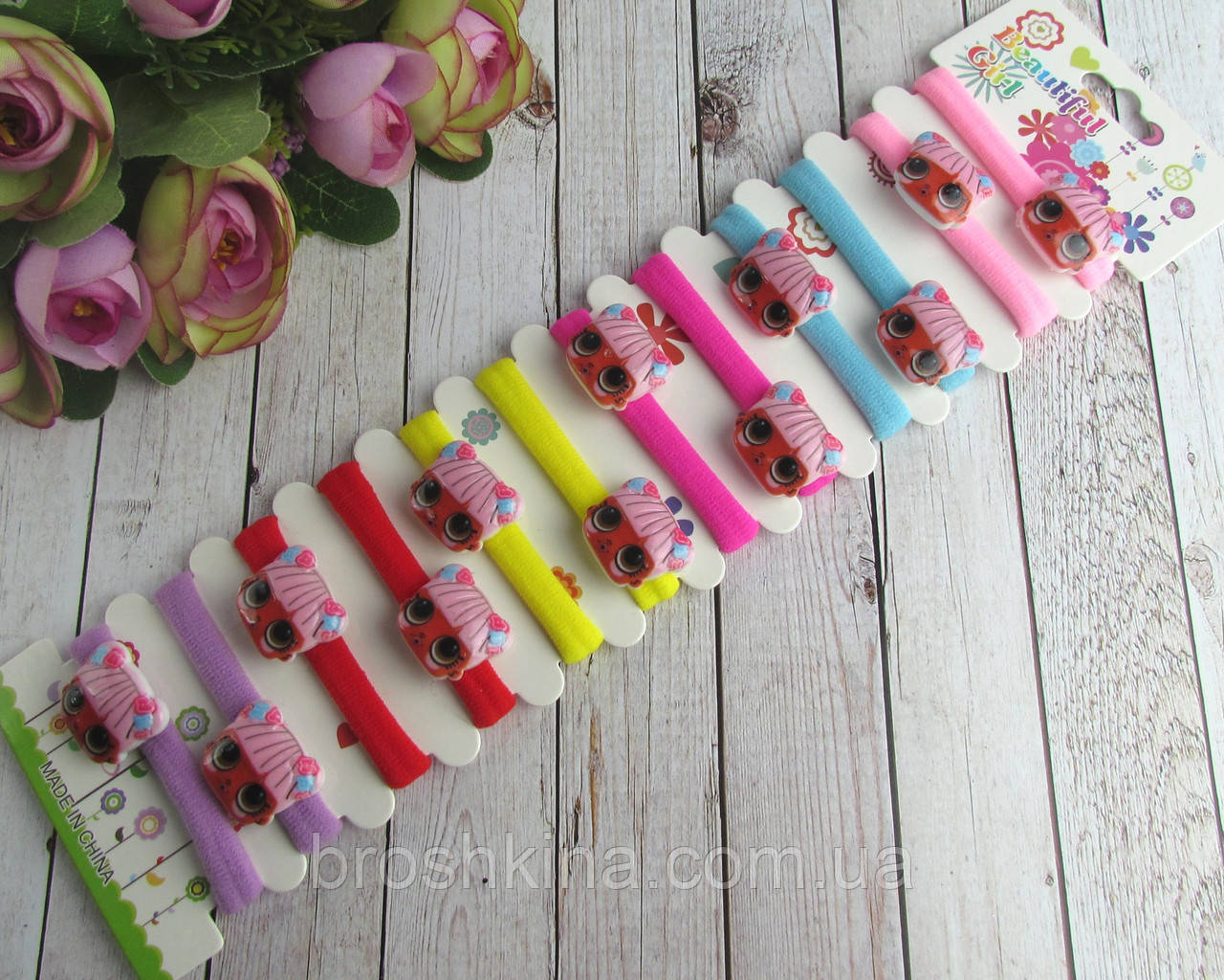 Детские резиночки для волос LOL 12 шт/уп