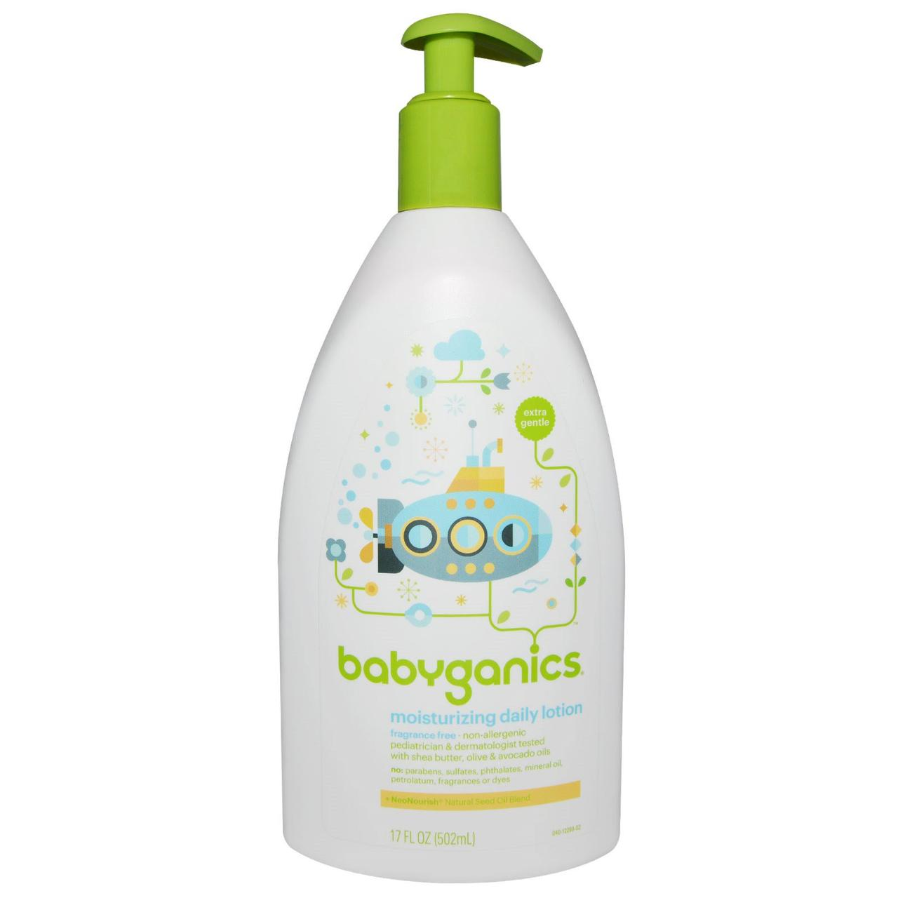 BabyGanics, Особо мягкий, увлажняющий лосьон для ежедневного использования, без отдушек, 17 жидких унций (502 мл)