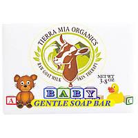 Tierra Mia Organics, Лечебное средство для кожи из сырого козьего молока, ребенок, мягкое мыло, 3,8 унции
