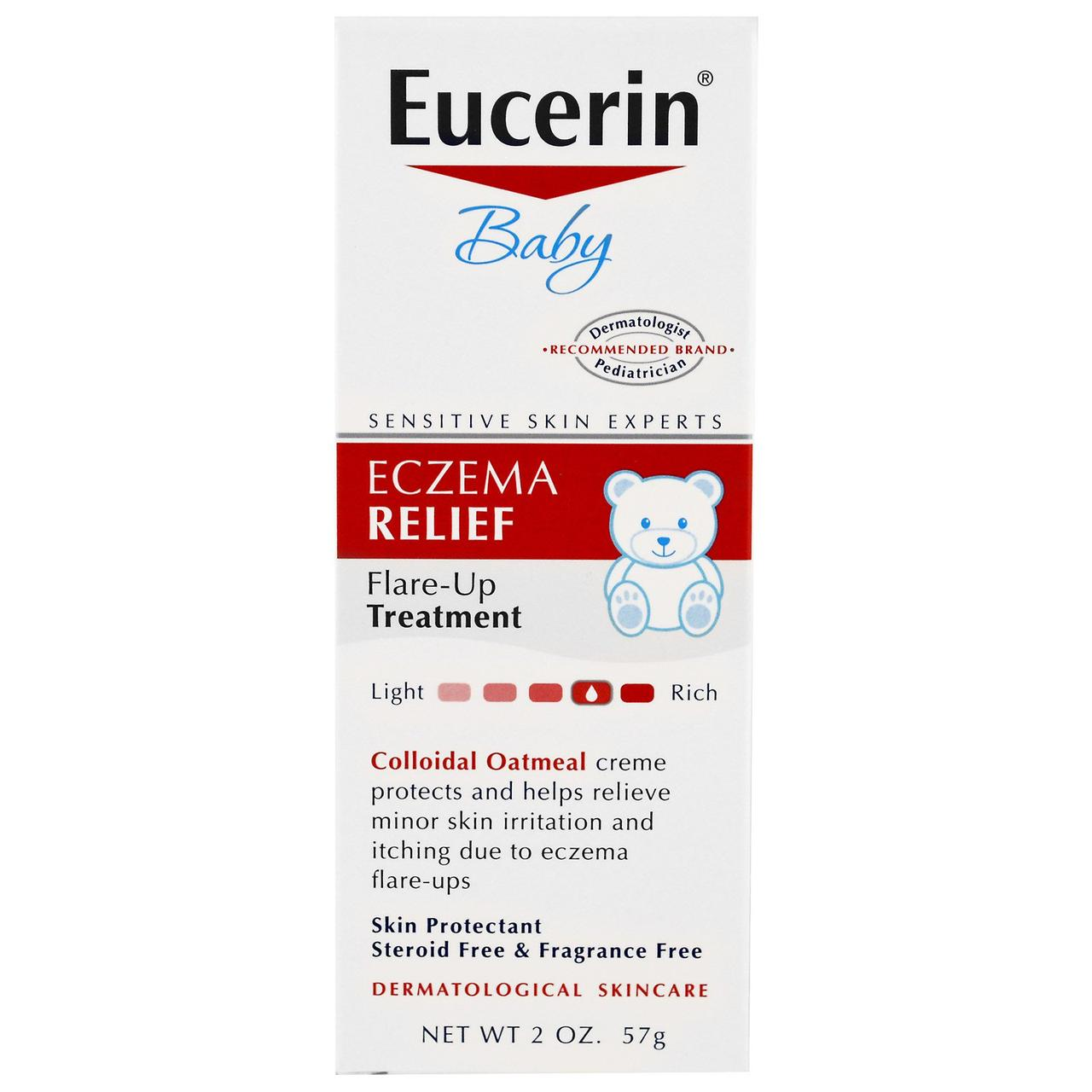 Eucerin, Eczema Relief for Baby, Instant Therapy Creme, 2.0 oz, фото 1