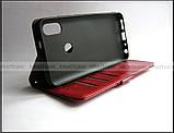 Женский красный чехол книжка противоударный для Xiaomi Redmi Note 5 в эко коже PU + портмоне, фото 7
