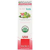RADIUS, Органическая зубная паста-гель, для детей, питайя, 3 унц. (85 г)