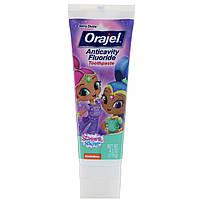 Orajel, Зубная паста с фтором против кариеса Shimmer & Shine, райские ягоды, 119 г