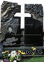 Двойное надгробие с воздушным крестом № 27