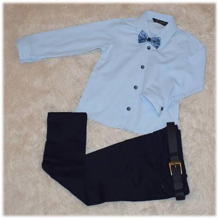 Нарядный костюм на мальчика (пиджак, рубашка, джинсы, бабочка, ремень) (Турция) размер 104 110 116 122 128 , фото 2