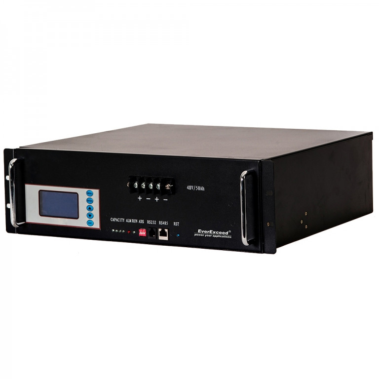 Литиевые аккумуляторы EverExceed 48 В, 50 Ач/2,4 кВт, под буферный режим, с дисплеем