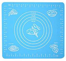 Антипригарний килимок, колір – Блакитний, 29x26 см, силіконовий килимок для розкочування тіста