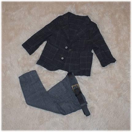 Нарядный костюм на мальчика (пиджак, рубашка, джинсы, жилетка, бабочка, ремень)  86 92 98 , фото 2