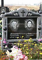 Памятник из серого гранита № 33