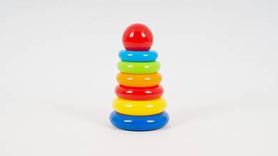 Пирамидка шарик из 6 колец ОРИОН.