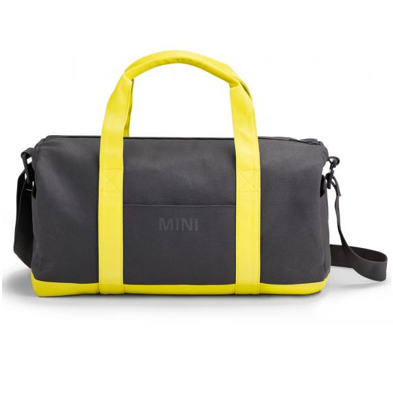 Спортивна сумка MINI Duffle Bag Colour Block, Grey / Lemon, артикул 80222445673