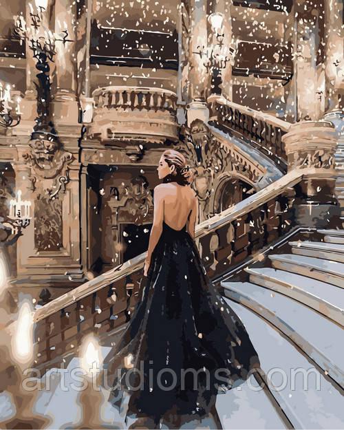 Картина раскраска по номерам Ночь в опере набор для рисования картины, 40х50 см, Без коробки