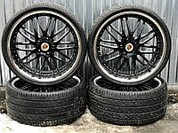 Диски Porsche Cayenne Touareg 5/130 R22 9.5J ET45 ET50 с резиной 295/25R22 Pirelli