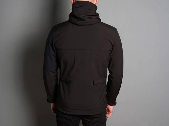 """Мужская Весенняя куртка Pobedov Soft Shell """"Boris """" (черный / синий), фото 3"""
