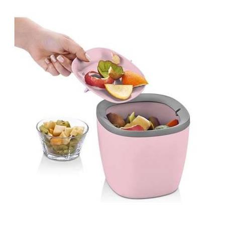 Контейнер для кухонного мусора, настольный, розовый, фото 2