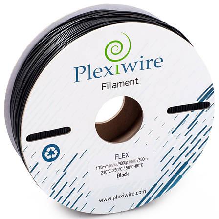 Пластик в котушці Flex 1,75 Чорний, 0.9 кг/300м, Plexiwire, фото 2