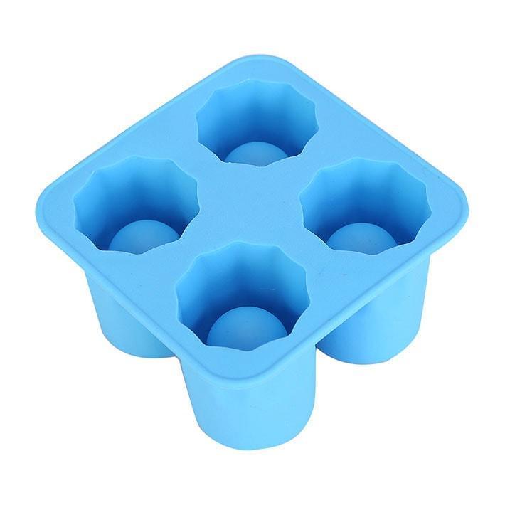 """🔝 Силиконовые формы для льда """"Ледяная рюмка"""" - голубая   🎁%🚚"""
